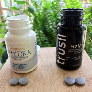 Hydra and Trusii molecular hydrogen tablets